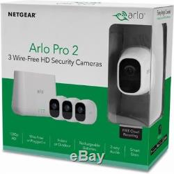 NEW NETGEAR Arlo Pro 2 (3-Camera) Wire-Free HD Security Indoor/Outdoor VMS4330P