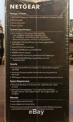 NEW NETGEAR Nighthawk AX3000 4-Stream Dual-Band Wi-Fi 6 Router RAX35-100NAS