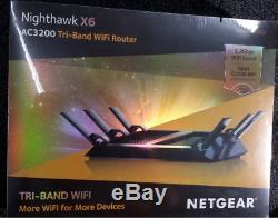 NEW! NETGEAR Nighthawk X6 AC3200 Tri-Band WiFi Router R8000-100NAS SEALED