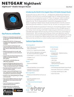 NEW Unlocked AT&T, Netgear Nighthawk M1 MR1100 HotSpot Mifi Jetpack LTE