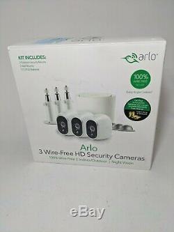 Netgear Arlo 3 Wire-Free Hd Security Cameras Indoor/Outdoor/Night Vision New
