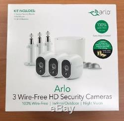Netgear Arlo 3 Wireless HD Security Cameras VMS3330W-100NAS BRAND NEW