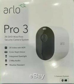 Netgear Arlo Pro 3 System with 1 Camera Wirefree Security Camera BRAND NEW