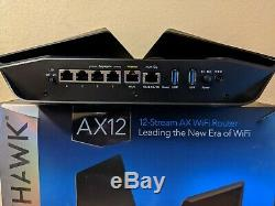 Netgear Nighthawk AX12 Dual-Band 12-Stream Wi-Fi 6 Router RAX120 Used Good