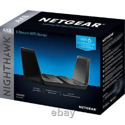 Netgear Nighthawk AX8 8-Stream WiFi 6 Router (RAX80) AX6000 Wireless Speed Open