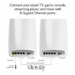 Netgear Orbi AC3000 Trri-Band Wireless Router White, Pack of 2 (RBK50-100NAS)