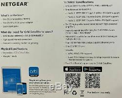 Netgear Orbi Satellite RBS50 Tri-band Mesh WiFi AC3000