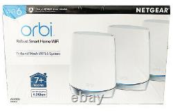 Netgear Orbi Tri-Band WiFi 6 Mesh System Router + 2 Satellites RBK753S AX4200