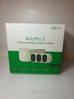 New Arlo Pro 2 Security Cameras System Bundle Indoor/Outdoor HD 1080p 3 Camera
