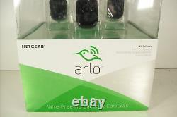 New Open Netgear Arlo Pro Camera Wire-Free HD Security System Complete