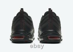 Nike Air Max 97 Black University Red DH4092-001 Mens Size 10 REFLECTIVE Lil nas