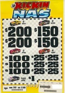 Pull Tab. 50 Ticket KICKIN NAS -$500 $$ PROFIT FREE Shipping