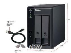 QNAP TR-002-US Diskless System 2 Bay USB Type-C Direct Attached Storage with Har