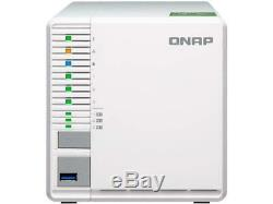 QNAP TS-332X 3-Bay 64-bit NAS with Built-in 10G Network. Quad Core 1.7 GHz, 2GB