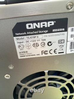 QNAP TS-419P II NAS W Power Adapter No HD