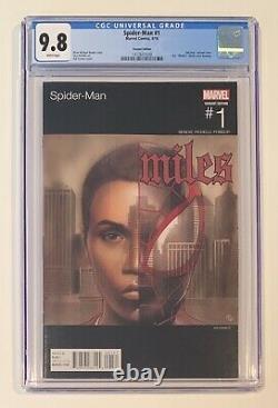 SPIDER-MAN #1 CGC 9.8 MILES MORALES NAS HIP HOP Variant ADI GRANOV