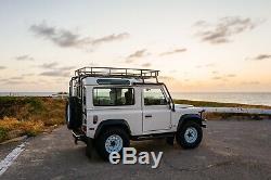 Safety Device Styles Land Rover Defender 90 Nas Roof Rack Basket Ladder Crossbar