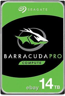 Seagate BarraCuda Pro 14TB SATA 6Gb/s 3.5 Internal PC HDD (ST14000DM001)