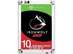 Seagate IronWolf 10TB NAS Hard Drive 7200 RPM 256MB Cache SATA 6.0Gb/s 3.5 Inte