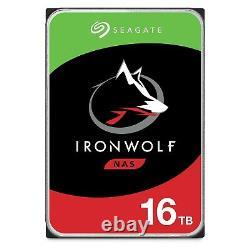 Seagate IronWolf NAS 16TB SATA 7200RPM 3.5 Internal HDD (ST16000VN001)