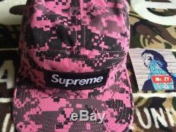 Supreme FW17 NYCO Twill Camp Cap BOX LOGO HAT CLASSIC CAMO TIGER BEANIE NAS TEE