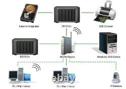 Synology DS1512+ DiskStation 5 Bay Desktop NAS 3GB RAM
