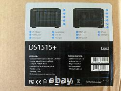 Synology DS1515+ 5 Bay NAS Disk Station Quad-Core CPU 4xLAN Ports PLEX VM Host