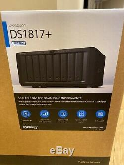 Synology DiskStation DS1817+ 8-Bay NAS Enclosure diskless 16GB of RAM