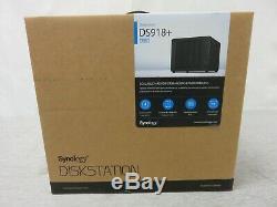 Synology Disk Station DS918+ 4-Bay Diskless NAS Server SATA 6Gb/s eSATA