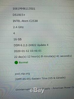 Synology Ds1815+ DiskStation With upgraded 16gb RAM NO DISKS