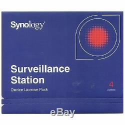 Synology IP Camera 4-License Pack Kit for Surveillance Station DS1513+ DS713+