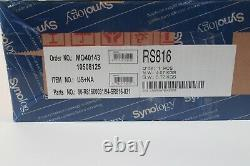 Synology RS816 Rackstation 1U 4-Bay Rackmount Server Dual-Core CPU New