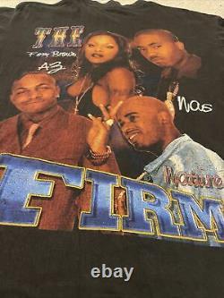 The Firm Nas AZ Nature Foxy Brown vintage 90s Rap Tee Rap T-shirt Phone Tap L/XL