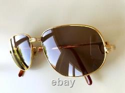 Vintage CARTIER ROMANCE sunglasses gold plated 54/16 Vendome NAS Santos Driver