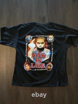 Vintage Nas R. Kelly Rap Rare Hip Hop Rap T-Shirt XL