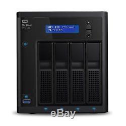 WD 0TB DISKLESS My Cloud Pro Series PR4100 Network Storage NAS WDBNFA0000NBK
