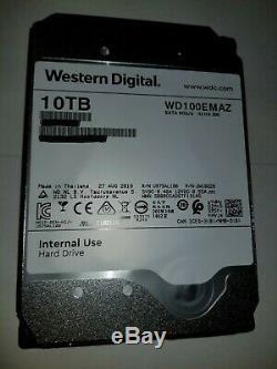 WD 10TB WD100EMAZ 3.5 SATA III Internal NAS Hard Drive 256MB Cache (Helium)