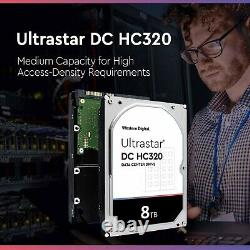 WD 8TB SATA 3.5 Internal HDD Compatible in Desktop Computer PC Mac NAS CCTV DVR