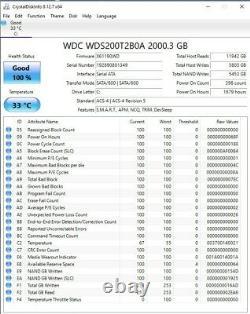 WD Blue 2TB 3D NAND SATA 6Gb/s 2.5 Internal SSD (WDS200T2B0A) Excellent