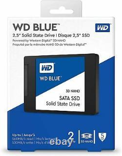 WD Blue 2TB SSD SATA 6Gb/s 2.5 Internal Solid State Drive (WDS200T2B0A)