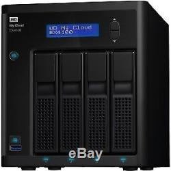 WD My Cloud Business EX4100 0TB 4-Bay Diskless NAS with Marvel ARMADA 388