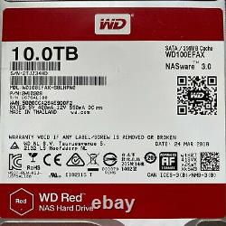 WD Red 10TB NAS Drive Internal Hard NASware3 5400RPM SATA3 256MB WD100EFAX