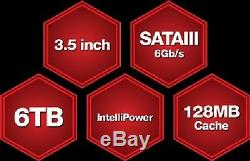 WD Red PRO 6TB NAS Desktop Hard Drive 128 MB WD6002ffwx WD6003ffbx or WD6003FZBX