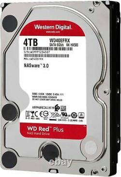 WD Red Plus 4TB Internal SATA NAS Hard Drive for Desktops