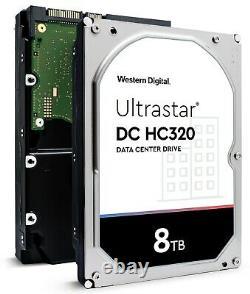 WD Ultrastar DC HC320 8TB SATA 6Gb/s 7200RPM 256MB Cache HDD (HUS728T8TALE6L4)