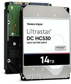 WD Ultrastar DC HC530 14TB SATA 3.5-Inch Enterprise Hard Drive WUH721414ALE604