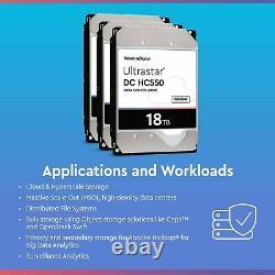 WD Ultrastar DC HC550 18TB SATA 3.5 Enterprise HDD WUH721818ALE6L4 (0F38459)