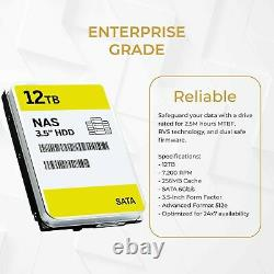 WL 12TB SATA III 7200RPM 3.5-Inch NAS Hard Drive Comparable with ST12000DM0007