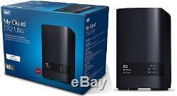 Western Digital 12TB WD My Cloud EX2 ULTRA HD NAS 6TB x 2= 12TB WDBVBZ0120JCH