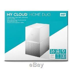 Western Digital 16TB WD My Cloud Home DUO Personal Cloud Storage WDBMUT0160JWT